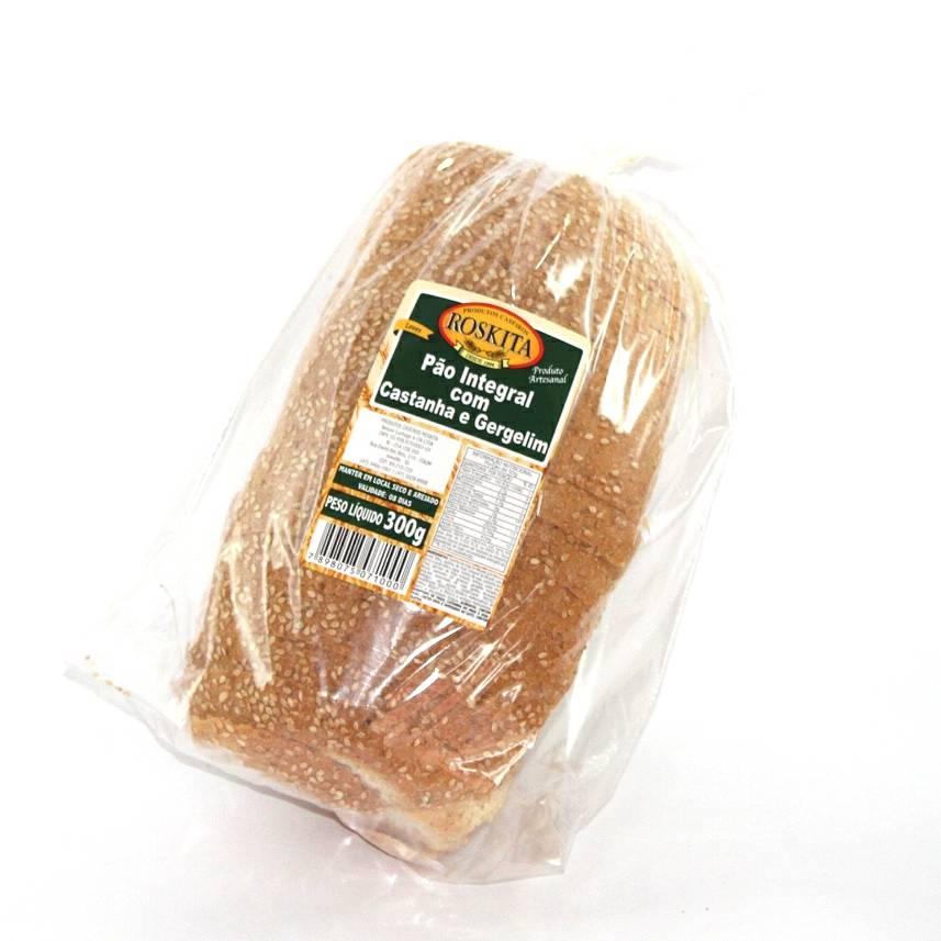 Pão Integral com Castanha e Gergelim 300g