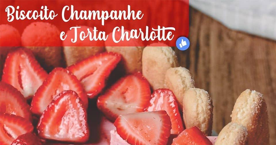 Torta Charlote de Morango ao Creme